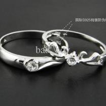 2017 Fashion Silver Couple Rings Bridal Rings Engagement Rings