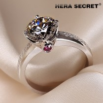 Aliexpress Com Buy Amazing Fire Color Luxury Of 1 5 Kt Ring High