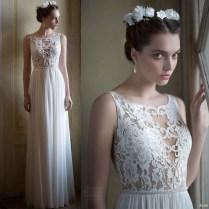 Aliexpress Com Buy Elegant Lace Princess Sheer Top Wedding Dress