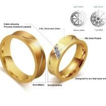 Aliexpress Com Buy New Wedding Couple Ring For Women Men Real
