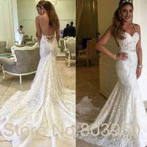 Aliexpress Com Buy Robe De Mariage Sexy Backless Mermaid Lace