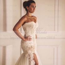 Aliexpress Com Buy Sweetheart Lace Trumpet Wedding Dress With