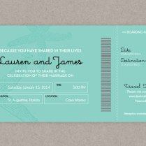 Announce Your Destination Wedding With Boarding Pass Invitations