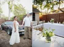 Backyard Wedding Table Centerpieces