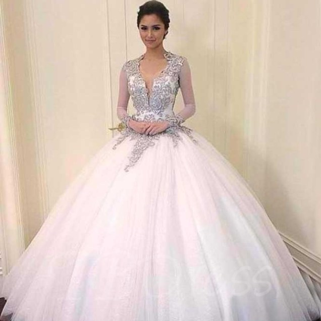 Ball Gown Wedding Dresses, Cheap Plus Size Ball Gown Wedding