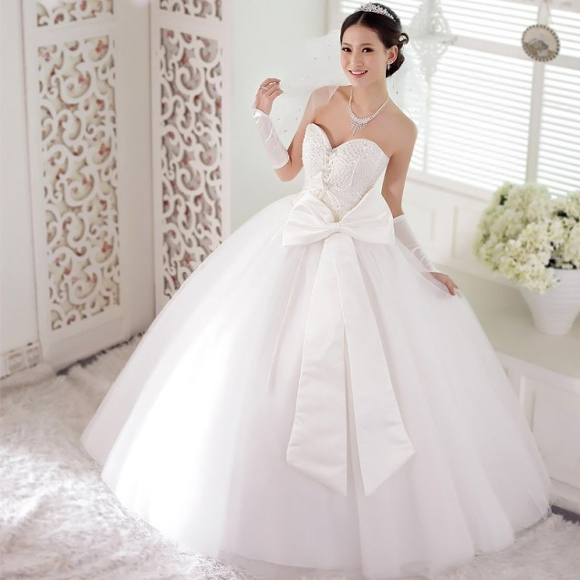 Ball Gown Wedding Dresses With Bows