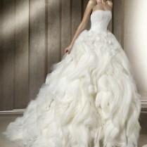 Ballroom Wedding Dresses With Flange And Ruffle Skirt