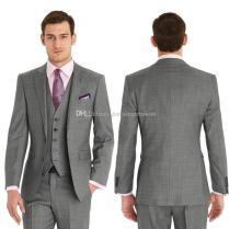 Best Dark Gray Fresh Wool Suit Cheap Men Suits Fashion Man Suits