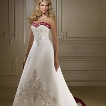 Black, White And Red Wedding Dresses