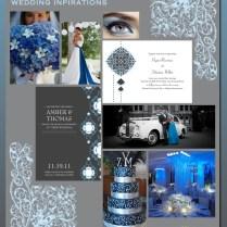 Blue Black And Silver Wedding Ideas