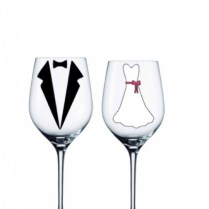 Bride & Groom Personalized Glasses Set Of 2
