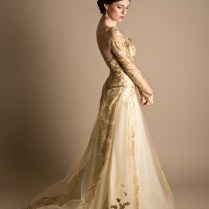 Brown And Gold Wedding Gowns