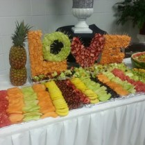 Buffet Fruit Display For Wedding