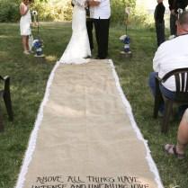 Burlap Aisle Runners For Weddings