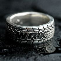 Buy A Hand Made Car Truck Mud Bogger Men's Tire Tread Ring, Made
