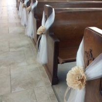 Church Pew Decorations For Wedding On Decorations With Pew For