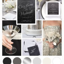Classic Silver And Black Wedding Ideas