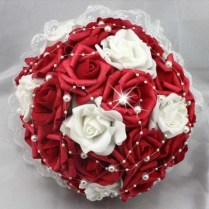 Collection Red And White Roses Wedding Bouquet Pictures