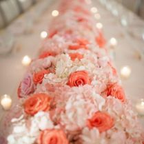 Coral And Pink Floral Wedding Centerpieces