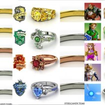 Elegant Along With Lovely Nerdy Wedding Rings Regarding Present