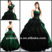 Elegant Black Beaded Waist And Neckline Chiffon Unique Style Green
