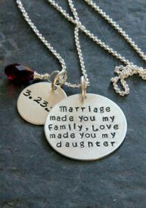 Gift For Daughter In Law, Marriage Made You My Family, Gift From