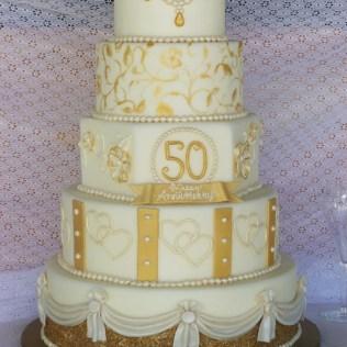 Golden Wedding Anniversary Cake Decorations Uk Decoration Ideas
