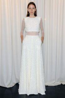 Gorgeous Crop Top Wedding Dress Inspiration