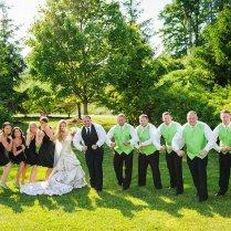 Green White And Black Wedding Theme
