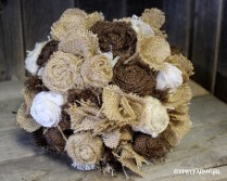 Gypsyfarmgirl Burlap And Lace Bride's Wedding Bouquet