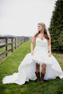 High Low Country Wedding Dresses With Cowboy Boots Naf Dresses