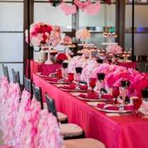 Hot Pink And Black Wedding Decoration Ideas