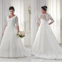 Images Of Wedding Dresses With Sleeves Plus Size