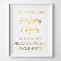In Loving Memory Of Wedding Signs This Candle Burns In Memory Of