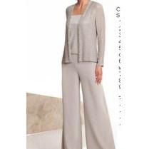 Informal Elastic Pants Dressy Mother Of The Bride Pants Suit Nmo