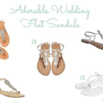 Inspired I Dos Adorable Wedding Flat Sandals