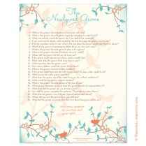 Instant Downloadable Bridal Shower Games That You Can Print At