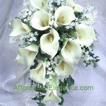 Ivory Calla Lily Bridal Bouquets Wedding Flowers Set