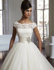 Lace Empire Wedding Dress With Sleeves