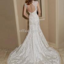 Lace Mermaid Wedding Dress With Keyhole Back