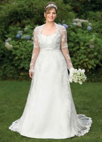 Lace Wedding Dresses With Sleeves Plus Size