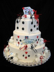 Las Vegas Themed Wedding Cakes