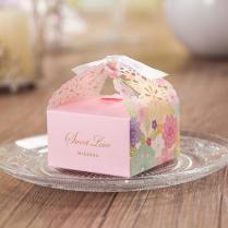 Laser Flower Wedding Boxes Favor Holders Gift Card Box Handmade