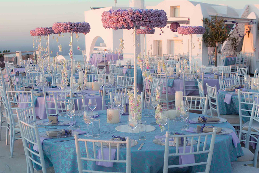 Teal And Lavender Wedding