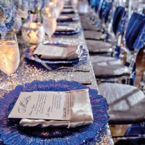 Luxurious Cobalt Blue & Silver Atlanta Wedding Nikia Jules