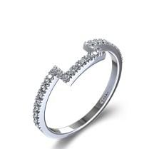 Matching Princess Halo Diamond Wedding Ring In Palladium