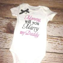 Mommy Will You Marry My Daddy Embroidered Shirt