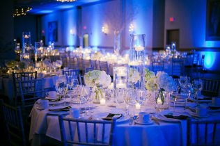 Navy Blue Wedding Reception Decorations