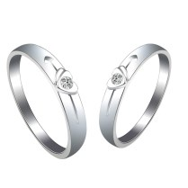 New Design Fashionable Couple Wedding Ring With Daimond