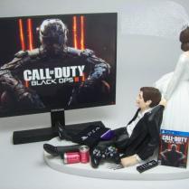 New Gamer Cod Op 3 Ps4 Brown Hair Bride And Groom Funny Wedding